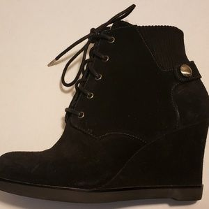 Michael Kors Shoes - Michael Kors Carrigan Lace-up Suede Wedge Boot